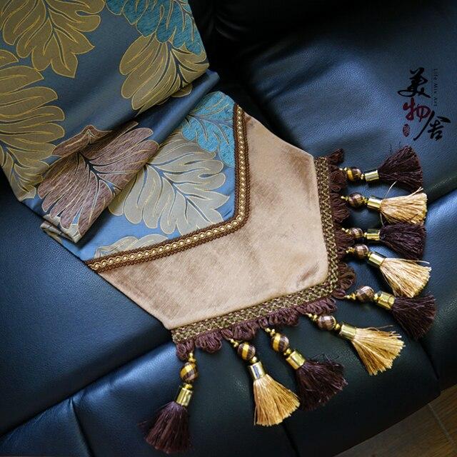 Grăbit Handmade Europe Blue Banana Leaf Style Stilier de nuntă - Textile de uz casnic