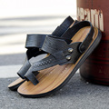 Мода 2 стиль ношения мужчины сандалии твердые slip-on sandalias человек случайный открытый летние тапочки мягкие шлепанцы мужчин плоские слайды