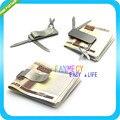Stainless Steel Waist Belt Money Keychain Clip Multi-function Toolr Id Creit Card Clip Holder CL06