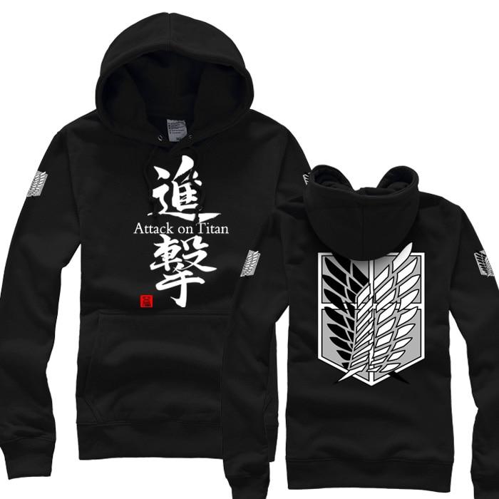 High Q Unisex Attack on Titan Hooded Hoodie Shingeki no Kyojin Eren Jager Corps coat hoodie Coat Pullovers Sweatshirts