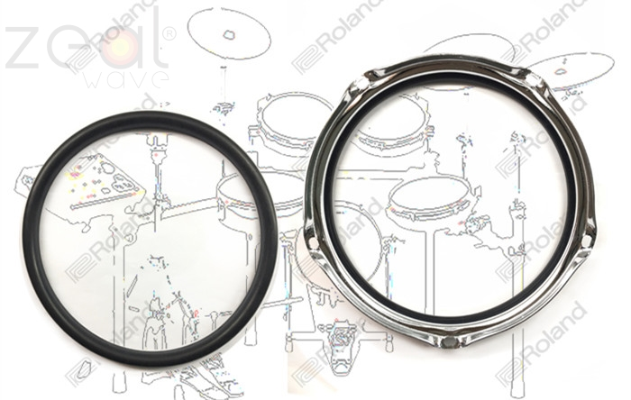 FOR Roland Electric Drum PDX-8 PDX-6 Pressure Ring PDX6 PDX8 Mesh Roland PDX-6  PDX-8  Electric Drum Rubber Ring Rubber Edge
