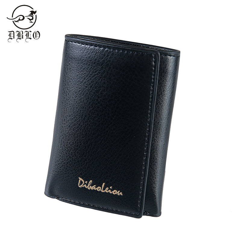 DBLO Luxury Brand Men Wallets Fold Design PU Leather Wallet For Men Hasp Men'S Mini Wallet Card Holder Male Purse Pocket Wallet casual weaving design card holder handbag hasp wallet for women