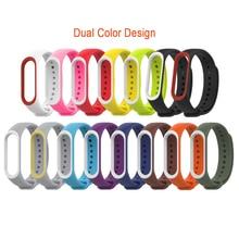 For Xiaomi Mi Band 4 Strap Silicone Wrist Strap For Xiaomi Mi Band 4 Accessories Bracelet Replacement Dual Color Straps