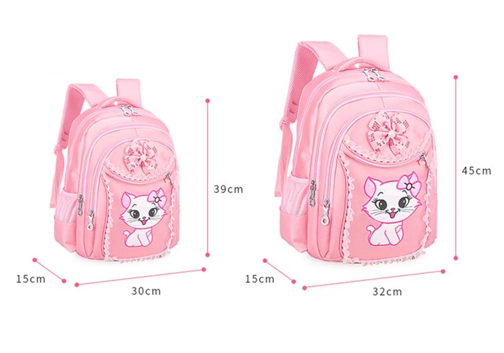 Sweet Cat Cartoon Pattern Kid Children teenager Girl/'s Backpack School Bags set