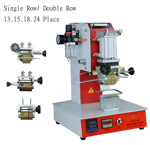 Pneumatic Cording machine for date dialing number 12 place/15place/18 place/24 place