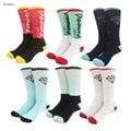 Eua brand new alta qualidade colorido diamante happy socks toalha caril inferior rua Skate hip hop longo meias para homens mulheres