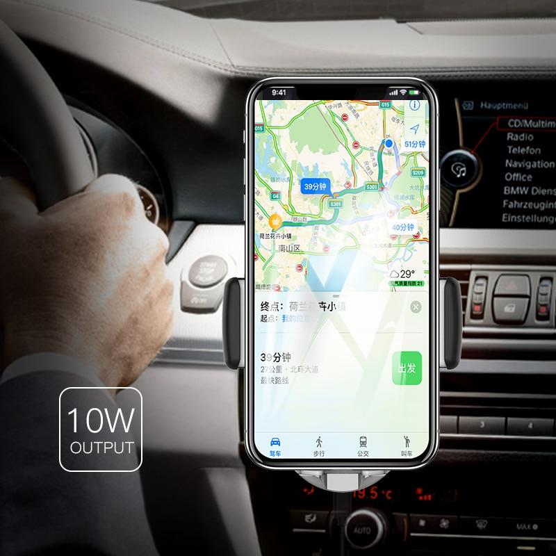 JS Lantro Suporte Do Telefone Do Carro Titular Do Telefone e Carregador Sem Fio Carregador Sem Fio 2 em 1 para Montagem Do Carro Dashboard Ar ventilação