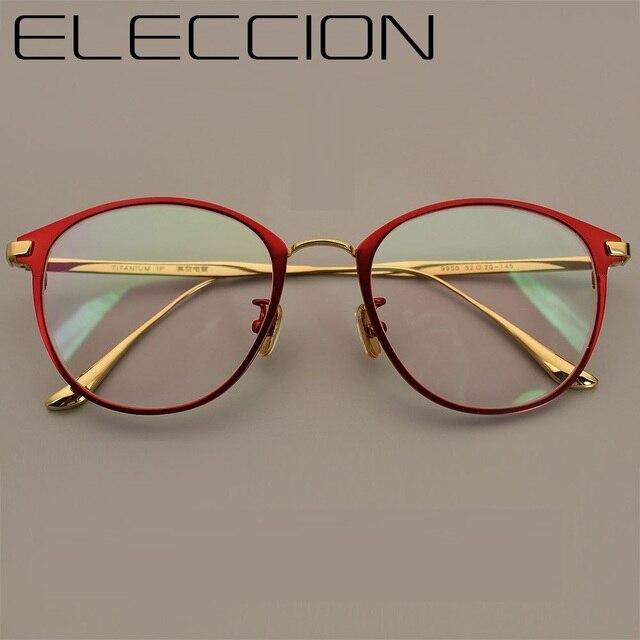 1c2a6deb408 ELECCION New High-End Pure Titanium Optical Frames Retro Style Full Frame  Women And Men Myopic Prescription Eyewear Frame