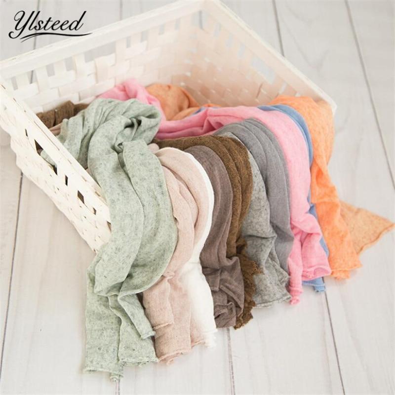 Neugeborenen Stretch Knit Wrap Baby Fotografie Requisiten Decke Neugeborenen Fotografie Wrap Infant Foto Schießen Korb Stuffer Decke