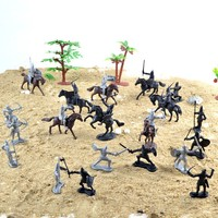 Ancient Knight 28PCS Set Soldiers And Horses Medieval Model Toy Soldiers Figures