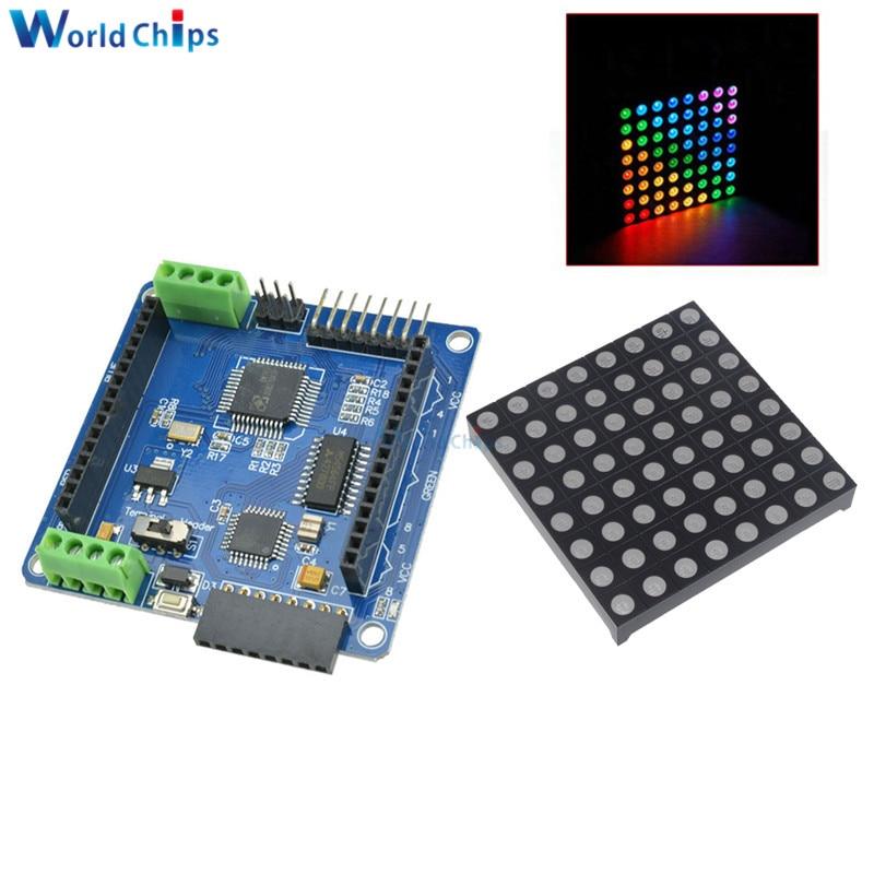Full color RGB matrix Driver Board for 8x8 LED RGB Dot Matrix Display Module Ard