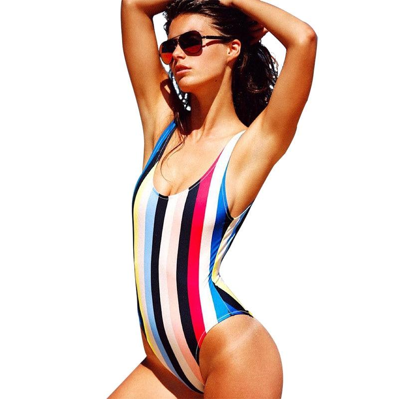 CV One Piece Swimsuit Women Swimwear Monokini Girls Swimwear Sexy Swimsuit for Girls Trikini Summer Beach Swim Print Solid Style