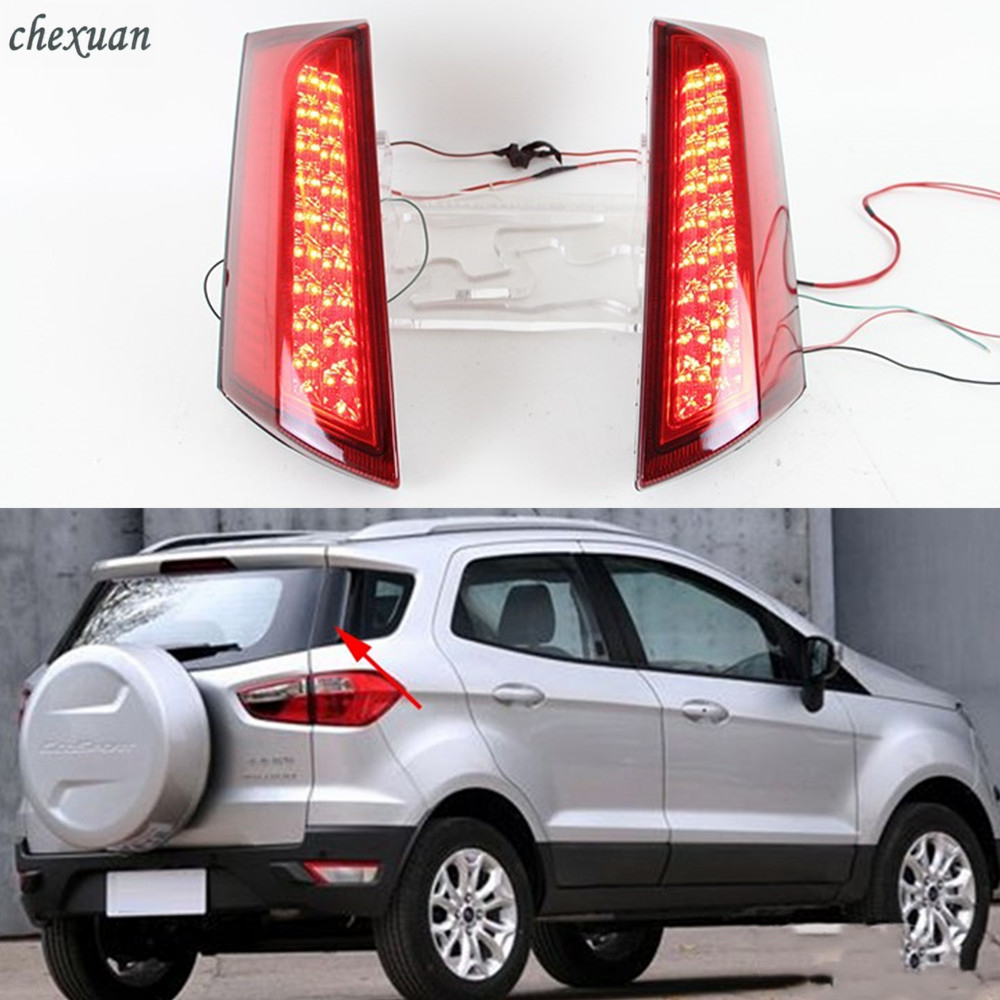 CSCSNL 1Set Car LED Tail Lamp Rear Light Brake Lamp Back Fog Light warning light For