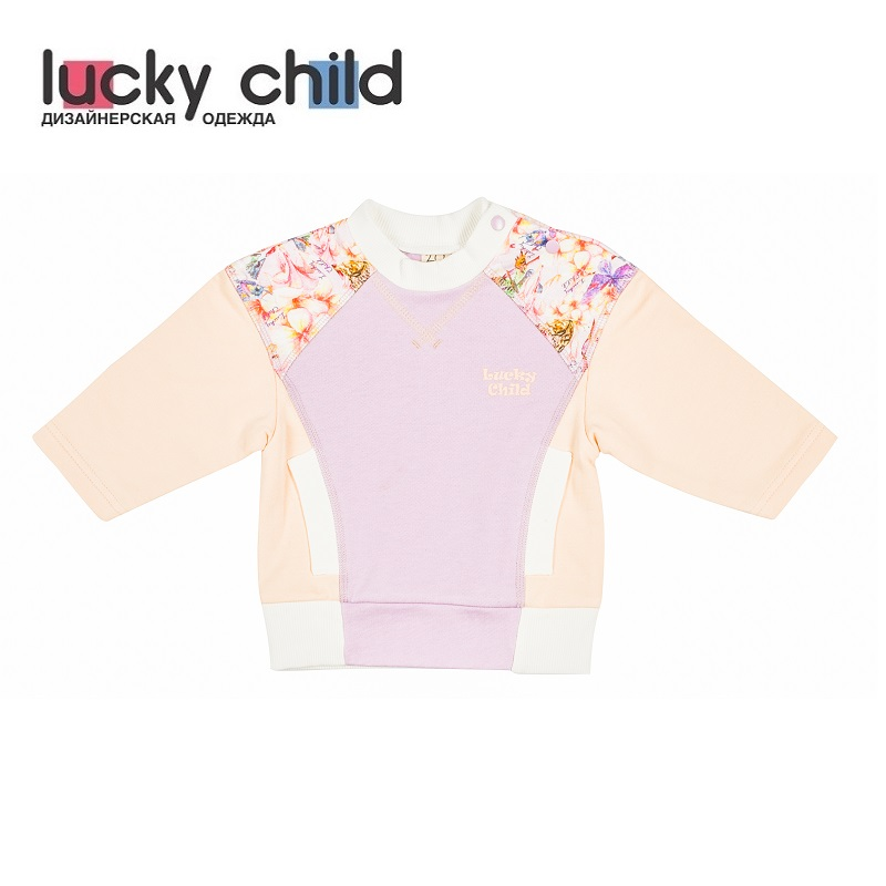 Фото - Sweater & Sweatshirts Lucky Child for girls 26-33f Kids Sweatshirt Baby clothing Children clothes Jersey Blouse Hoodies contrast lace keyhole back blouse