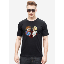 CHUCKY 7 Halloween T shirt Men Japanese font b Anime b font Men Shirt Short Sleeve