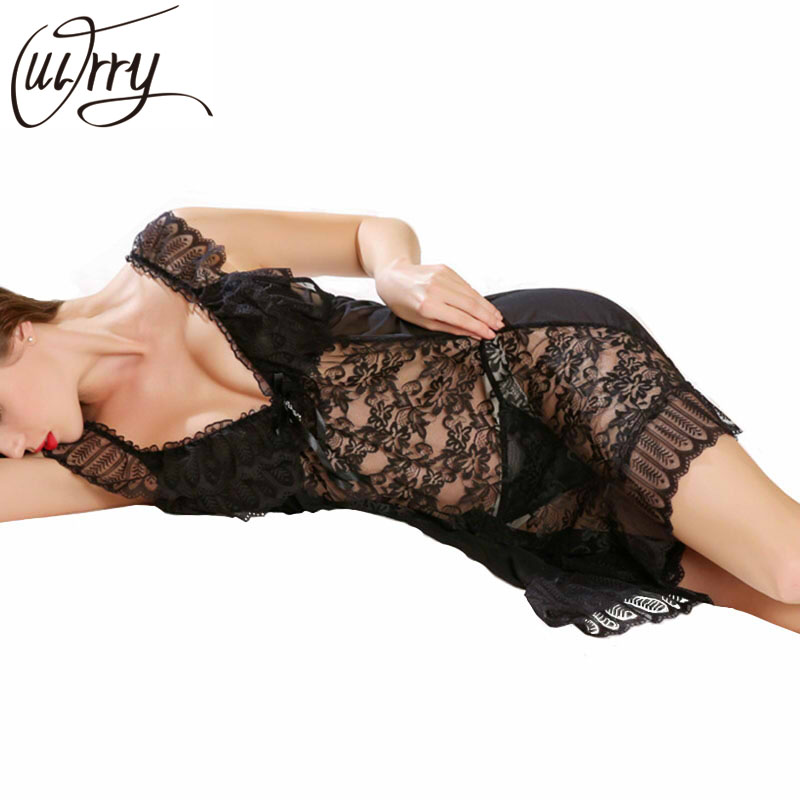 OUIRRY Sexy   Nightgowns     Sleepshirts   Sleepwear Women Night Dress Lace Embroidery Sexy Lingerie Babydoll Women Summer Gecelik