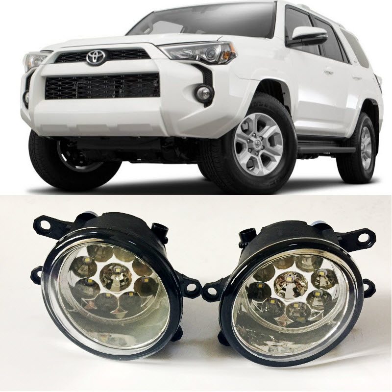 For <font><b>Toyota</b></font> <font><b>4Runner</b></font> 2014 <font><b>2015</b></font> 2016 2017 9-Pieces Leds Fog Lights H11 H8 12V 55W Halogen LED Fog Head Lamp Car-Styling image
