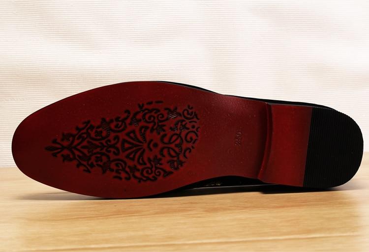 Men 2019 luxury Brand Designer shoes flock velvet Sun flower Embroidery gentleman loafers Dress Wedding driver Italian flats 4