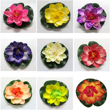 Flowers White Eva-Decoration Lotus-Foam Water-Lily Wedding Garden Pool-Plants Artificial