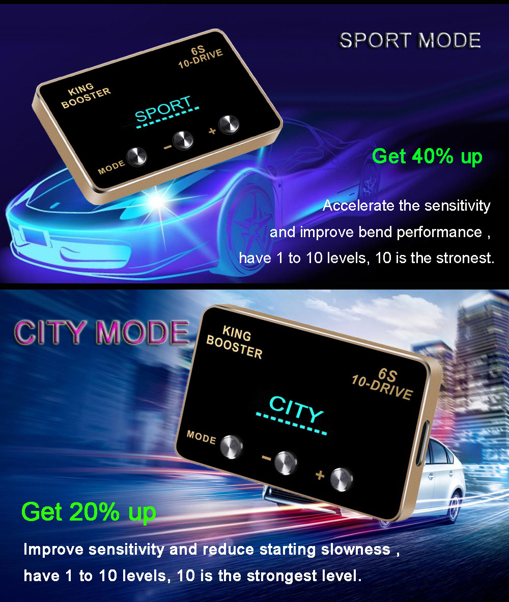 6 car DIY accessories smart pedal commander tuning box electronic throttle controller accelerator speed control module