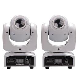 2 Stks Wit Shell Mini Moving Head 30 W LED Gobo Spot Light DMX512/Master-Slave/Auto Run/Geluid controller Moving Head Licht DJ/Bar
