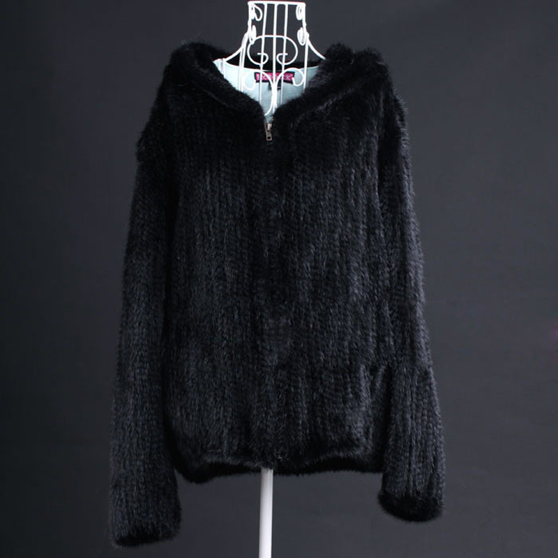Зимние женские из натуральной норки Меховая куртка пальто с капюшоном Для женщин меховое пальто Размеры 5XL 6XL плюс Размеры VK3016