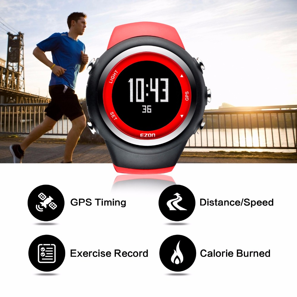 ezon gps running watch calorie counter fitness sport watch men ezon gps running watch calorie counter fitness sport watch men waterproof 50m sport watches for men reloj hombre deportivo t031