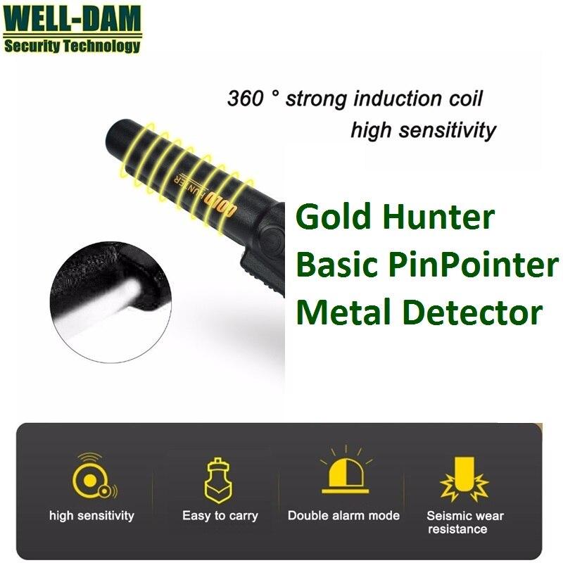 Détecteur de métaux de base pinpointer or détecteur de métaux souterrain détecteur de métaux tenu dans la main chasseur de trésors
