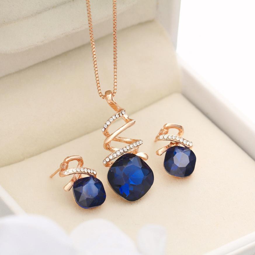 GEMIXI 2018 Fashion Jewelry Sets For Women Crystal Necklace EarringsWedding  4.17