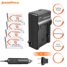 цена на 4PC 1200mAh NP-BN1 NPBN1 BN1 Battery+Battery Charger+Car for SONY DSC TX9 T99 WX5 TX7 W390 W380 W350 W360 QX100 W370 W730 L20