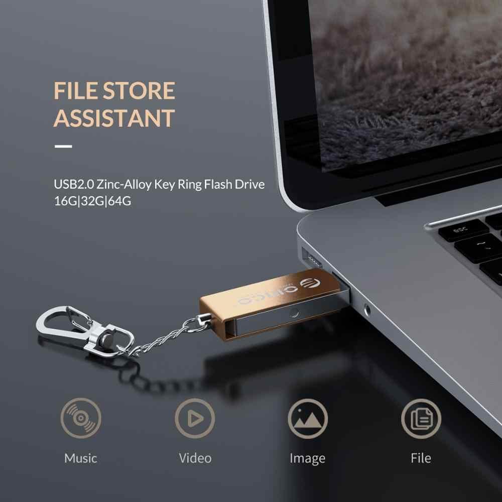 Orico USB Flash Drive 64GB 32GB 16GB USB 2.0 Logam Memori Flash USB Stick Penyimpanan Flash Disk USB 2.0 Flash Drive