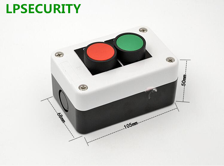 LPSECURITY Outdoor with shelter PUSH BUTTON STATION START STOP MOTOR, GATES DOORS OPEN STOP CLOSE machine tool( waterproof) on off start stop push button pushbutton switch 87x56mm with dust cover