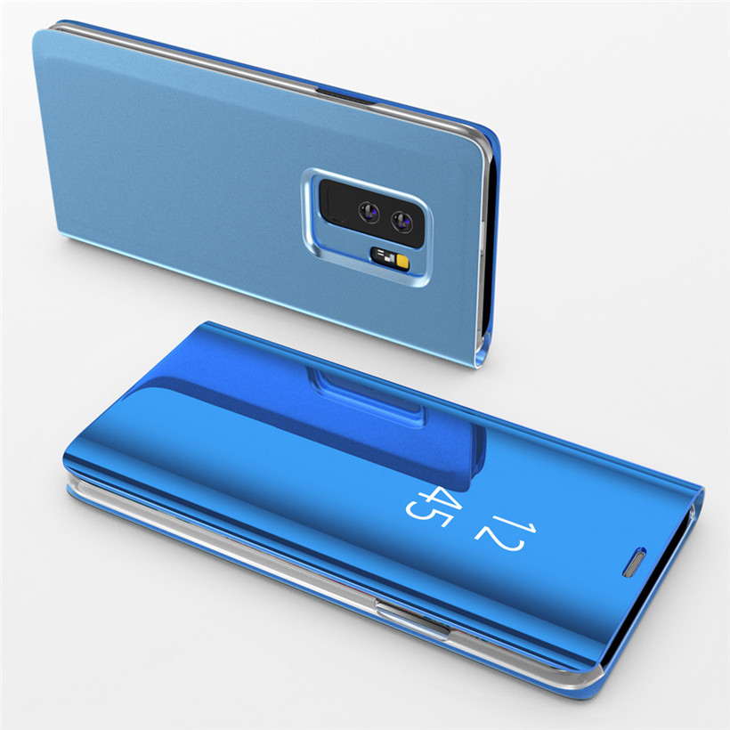 luxury clear mirror phone case with flip stand case for samsung galaxy phones of all models