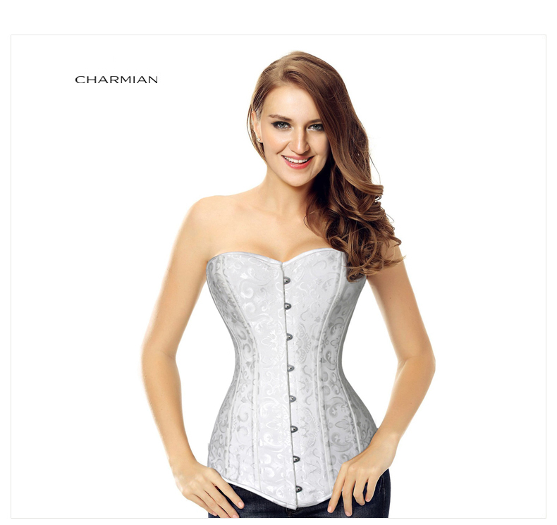 ae4c74949 Charmian 26 Steel Double Boned Overbust Long Torso Corsets Bustiers ...