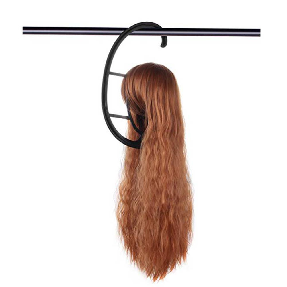 Bellylady Portable Hanging Wig Stand Plastic DIY Long & Short Wigs Hats Holder Hanger for wig