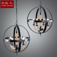 ways is a globe spherical 4 head droplight hemp rope dining room lamp sitting room lamps and lanterns of lighting