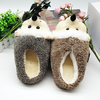 Indoor Slippers Special dog offer custom a warm winter hedgeh lovers home slippers thick hard bottom shoes on floor lovers shoes 4