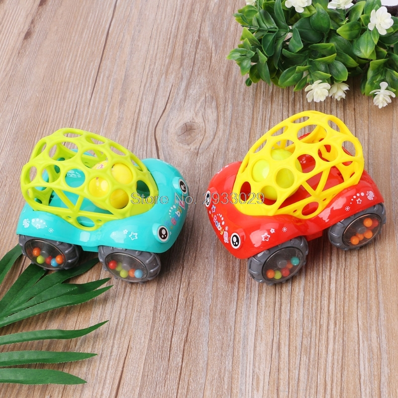 Baby Infant Rattle Roll Car Toy Soft Flexible Sounds Perfect Teething Kids Play Drop shi ...