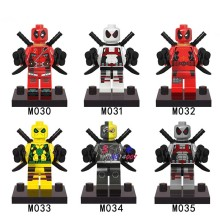 Single Sale superhero marvel Armed Red Black Deadpool Hot Movie building blocks model bricks toys brinquedos menino(China)