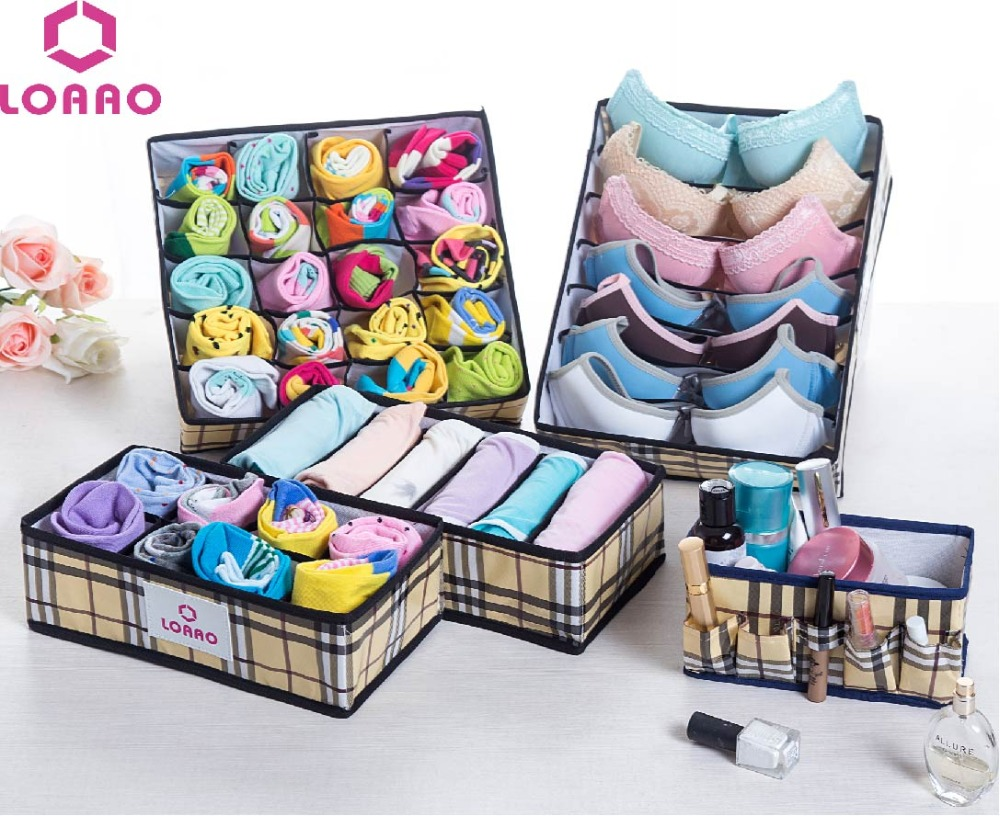 Loaao 5 in1 cosmetic storage box home organizer box socks for New home construction organizer