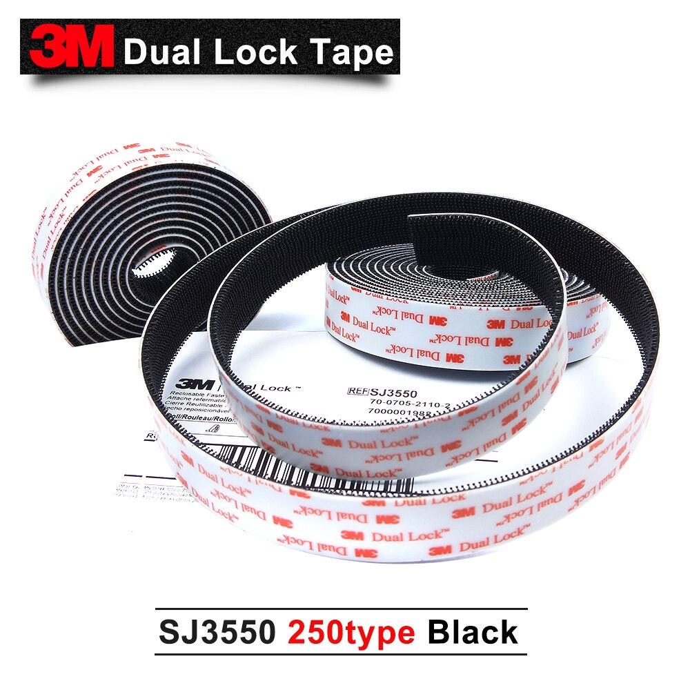 3M Dual Lock SJ3550 Self adhesive tape 250type with black 1in*50yards 2rolls/carton