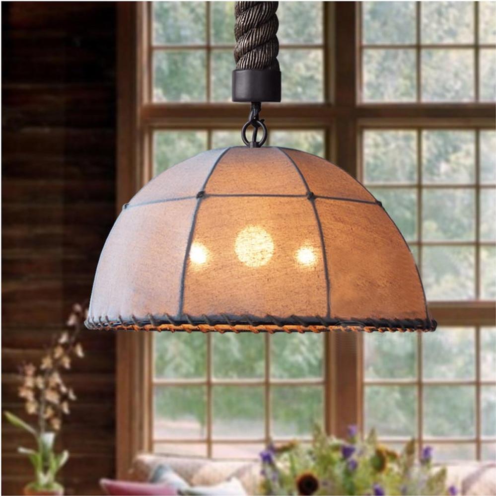 popular decorative pendant light fixtures buy cheap decorative rustic retro vintage fabric iron lustre pendant light loft pendant lamps home decorative light fixture hanging