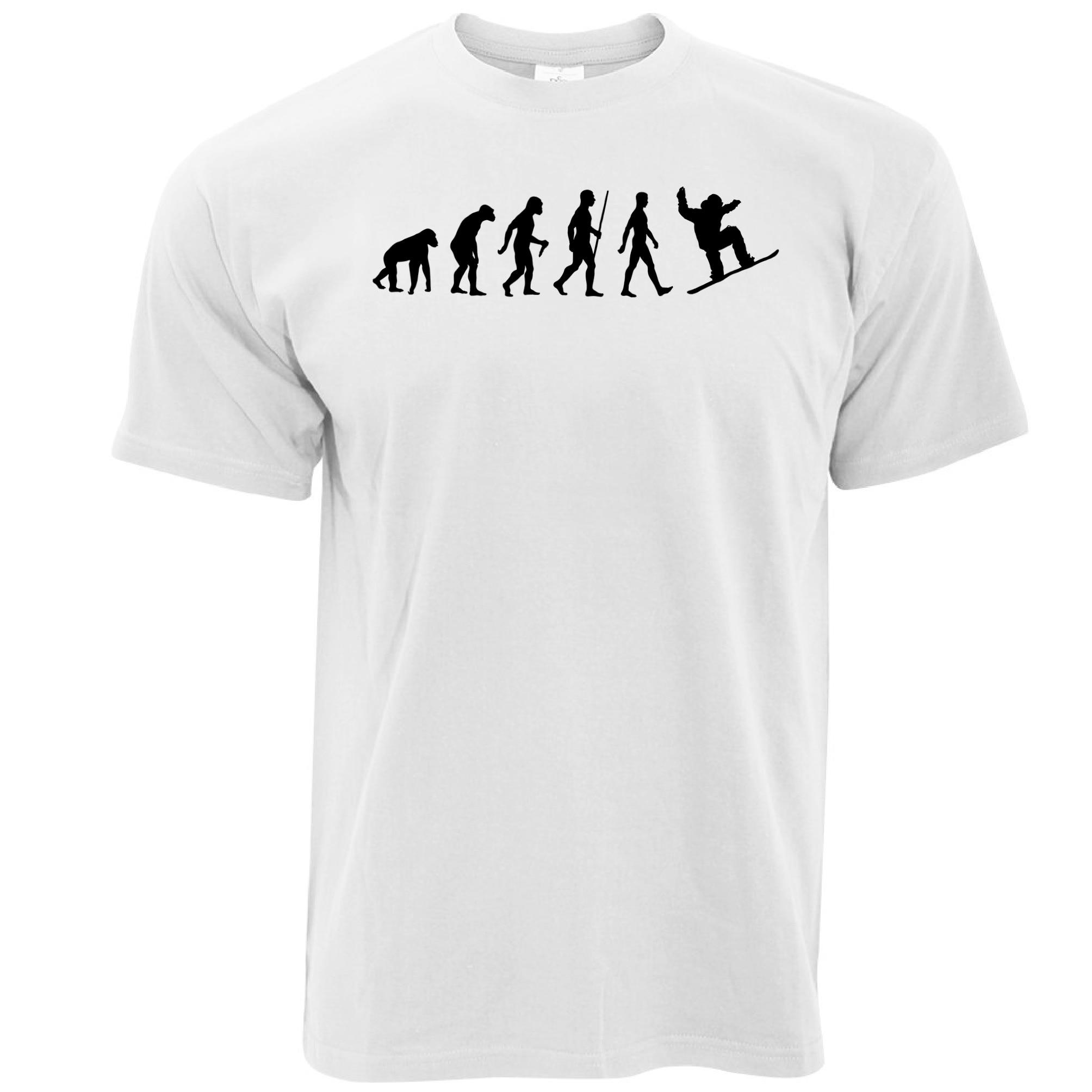 T Shirt Shop Crew Neck Short-Sleeve Fashion 2017 Mens Evolution Of Snowboardinger Snow Mountain Tricks Flip Country Tee Shirts