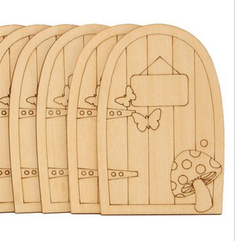 Popular wooden fairy doors buy cheap wooden fairy doors for Wooden fairy doors