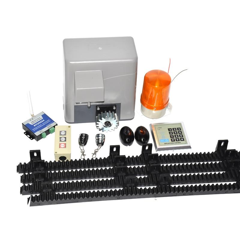 600kg/1300LBS Electric sliding Door Opener 4M Rail Gate Opener Operator Sliding Door Kits Sliding Gate Remote Control Kit