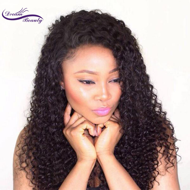 wicca fashion 150 Density Full Lace Human Hair Wigs With Baby Hair Kinky Curly Brazilian Non Remy Hair Wigs