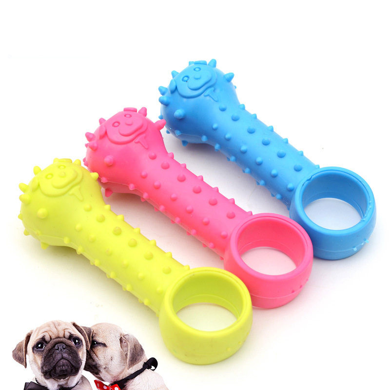 Pubber Pet Toys for Small Dogs Rubber Resistance To Bite Dog Toy Teeth Cleaning Chew Training Toys Pet Supplies Puppy Dogs in Dog Toys from Home Garden