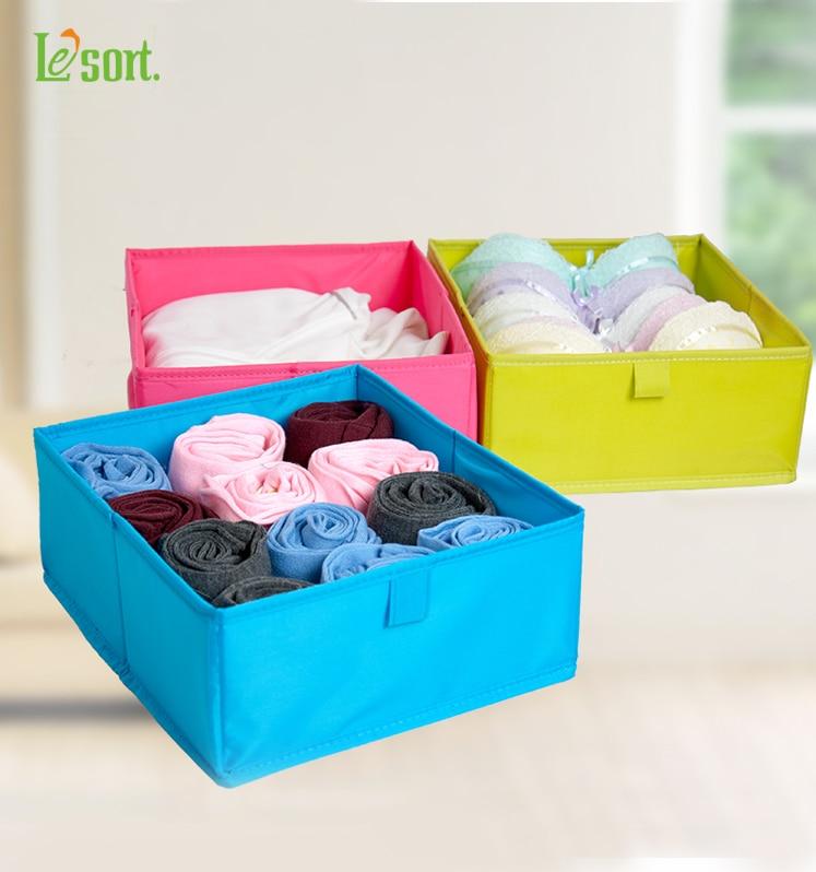 Красочные складной ящик для хранения для одежды моющийся Нижнее Бельё для девочек коробка для хранения полиэстер Ткань выдвижных Организатор Контейнеры Для Хранения