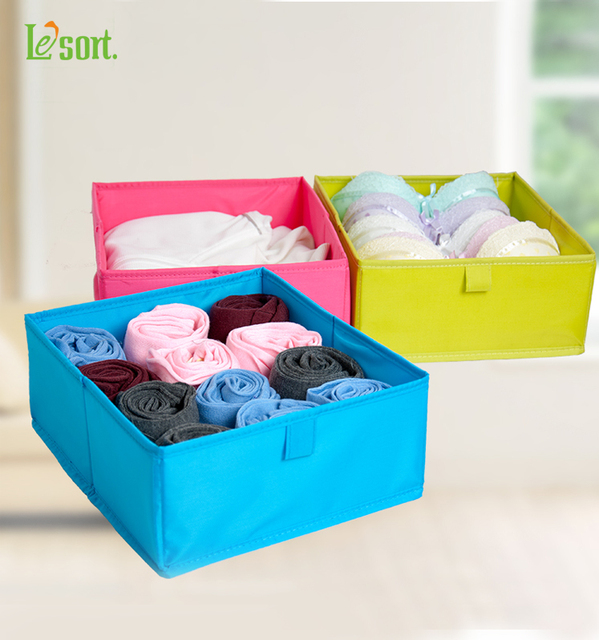 Merveilleux Colorful Foldable Storage Box For Clothes Washable Underwear Storage Box  Polyester Fabric Drawer Organizer Storage Containers