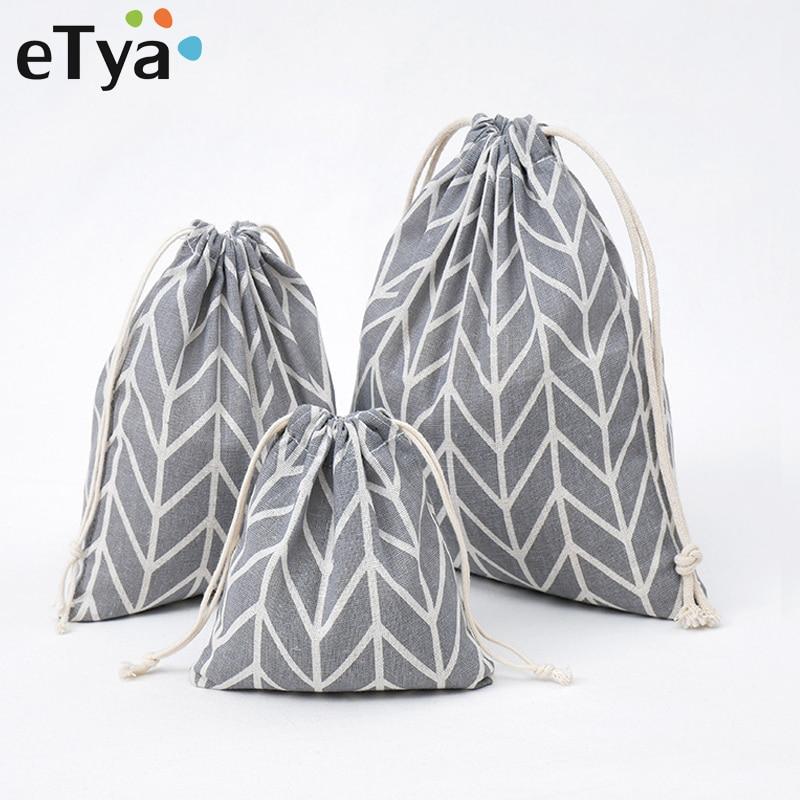 ETya New Fashion Drawstring Bag Women Men Travel Organizer Package Gift Pouch Cosmetics Makeup Case Shoes Storage Toiletry Bags
